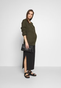 Cotton On - SIDE SPLIT SKIRT - Maxi skirt - black - 1