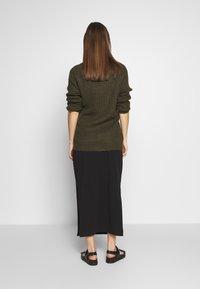 Cotton On - SIDE SPLIT SKIRT - Maxi skirt - black - 2