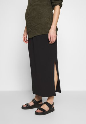 SIDE SPLIT SKIRT - Długa spódnica - black