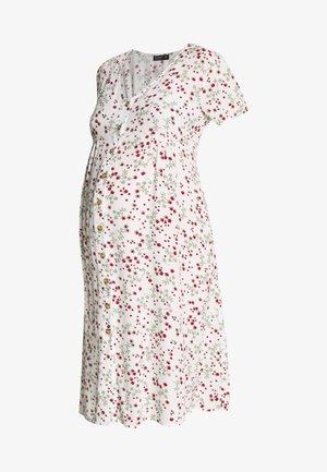 MATERNITY BUTTON FRONT MIDI DRESS - Žerzejové šaty - gardenia