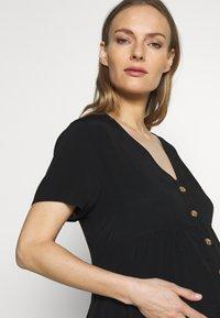 Cotton On - MATERNITY BUTTON FRONT MIDI DRESS - Jersey dress - black - 3