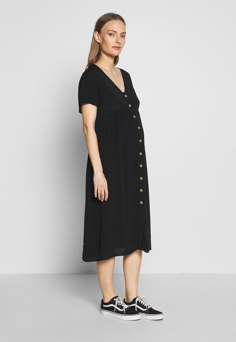 Cotton On - MATERNITY BUTTON FRONT MIDI DRESS - Jersey dress - black