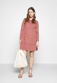 Cotton On - BABYDOLL MINI DRESS - Jersey dress - aidan faded rose - 1