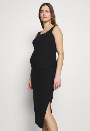 MATERNITY HENLEY DRESS - Day dress - black