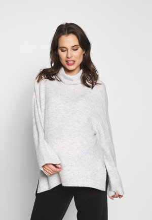 MATERNITY SLOUCHY ROLL NECK - Trui - silver marle