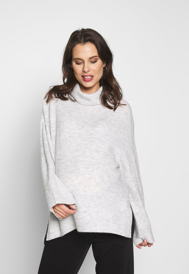 MATERNITY SLOUCHY ROLL NECK - Jumper - silver marle