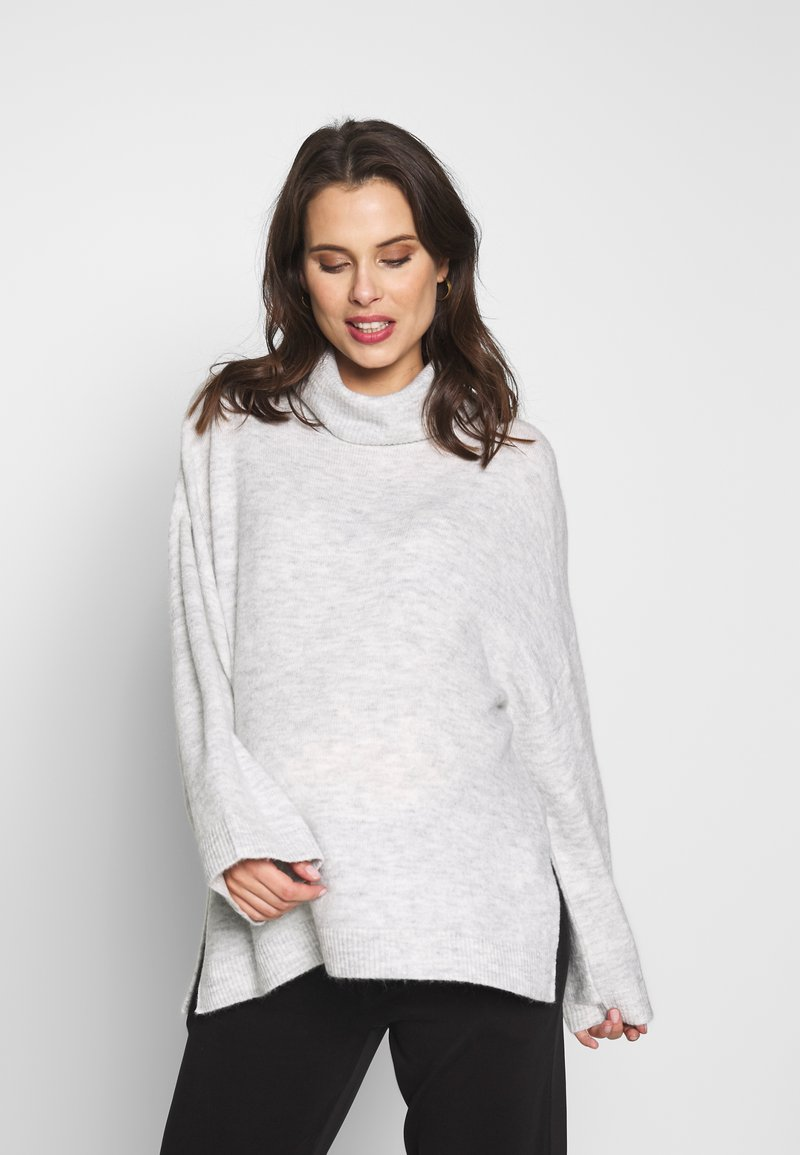 Cotton On - MATERNITY SLOUCHY ROLL NECK - Jersey de punto - silver marle