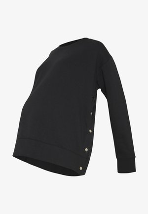 MATERNITY BUTTON SIDE  - Sweatshirt - black