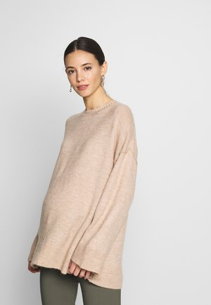 MATERNITY SIDE BUTTON - Jersey de punto - oatmeal marle