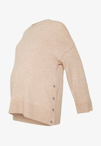 Cotton On - MATERNITY SIDE BUTTON - Jersey de punto - oatmeal marle - 3