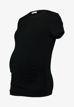 MATERNITY  FRONT SHORT SLEEVE - T-shirt basique - black