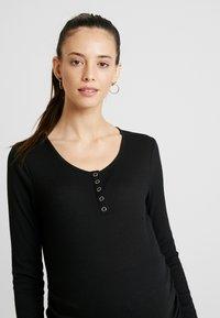 Cotton On - HENLEY SLEEVE - Bluzka z długim rękawem - black - 3