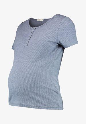 MATERNITY HENLEY SHORT SLEEVE - Basic T-shirt - grisaille