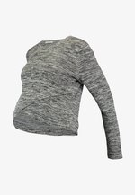 MATERNITY CROSS OVER FRONT LONG SLEEVE - Sweter - grey twist