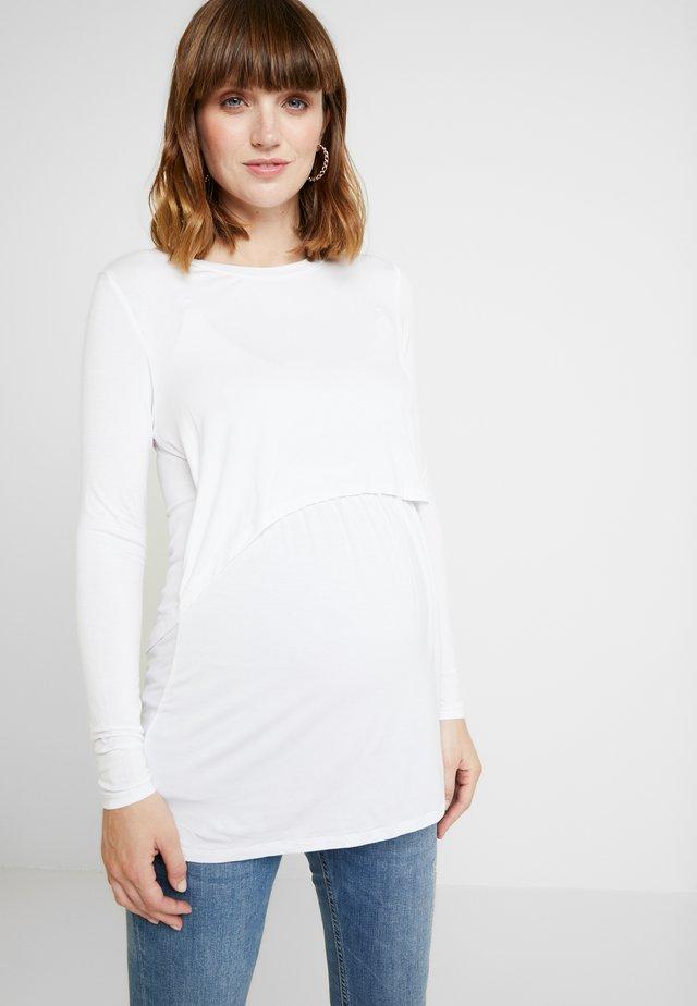 MATERNITY - Bluzka z długim rękawem - white