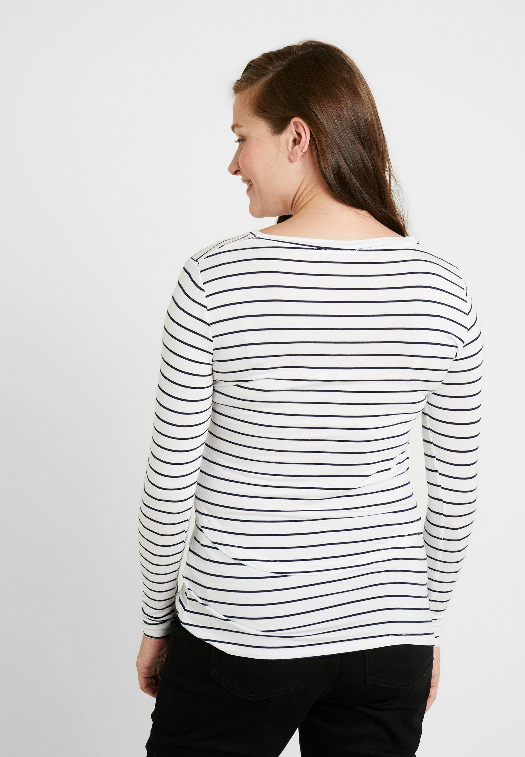 Cotton On MATERNITY - Bluzka z długim rękawem - white/moonlight
