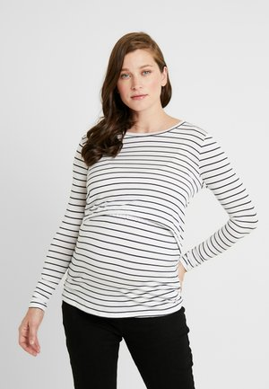 MATERNITY - Long sleeved top - white/moonlight