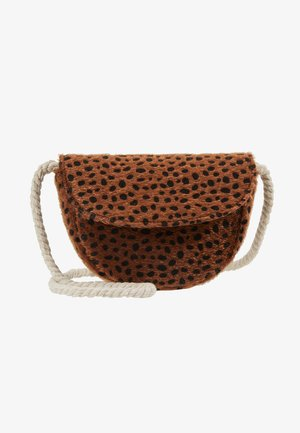 CROSSBODY SADDLE BAG - Bandolera - brown