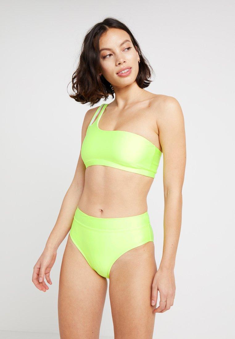 Cotton On Body - ONE SHOULDER HIGHWAISTED BOTTOM SET - Bikini - lime soda