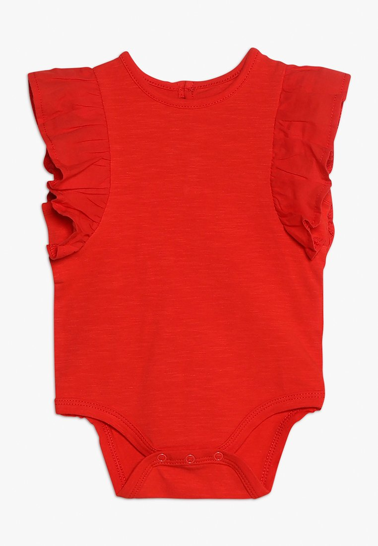 Cotton On - KATIE RUFFLE BUBBYSUIT - Body - engine red