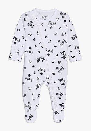 MINI ZIP THROUGH ROMPER BABY - Pyjamas - white