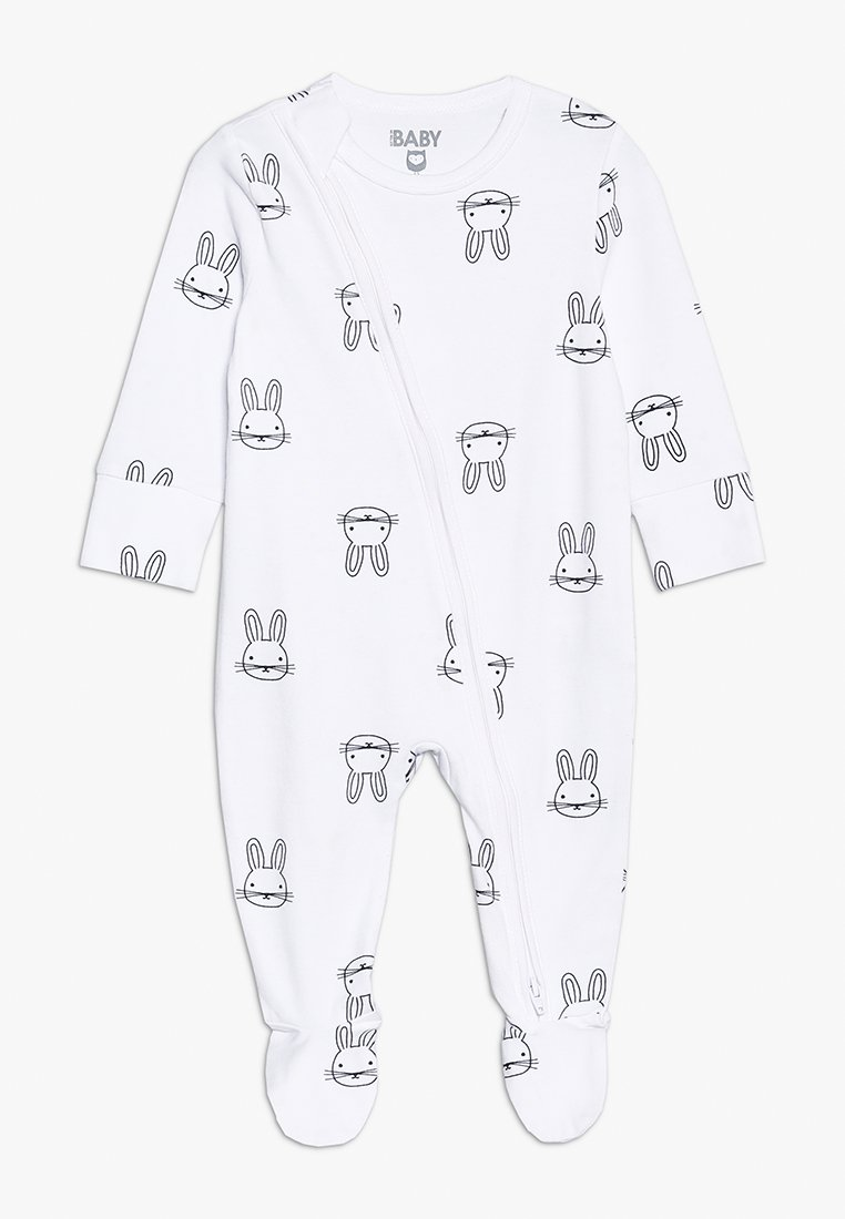 Cotton On - MINI ZIP THROUGH ROMPER BABY - Pyjamaser - white