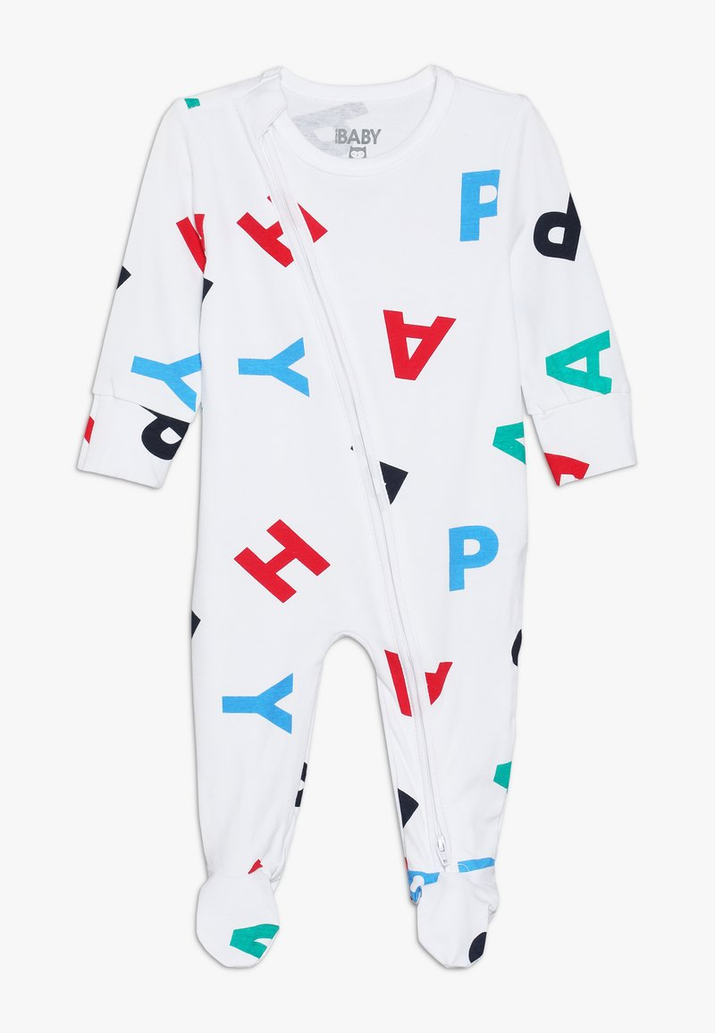 Cotton On - MINI ZIP THROUGH ROMPER BABY - Pyjama - white/happy multi