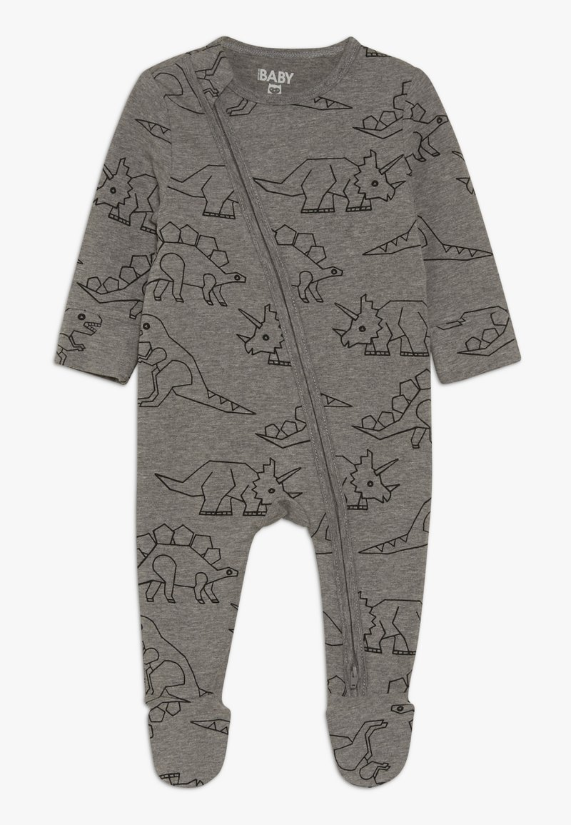 Cotton On - MINI ZIP THROUGH ROMPER BABY - Pyjama - charcoal marle