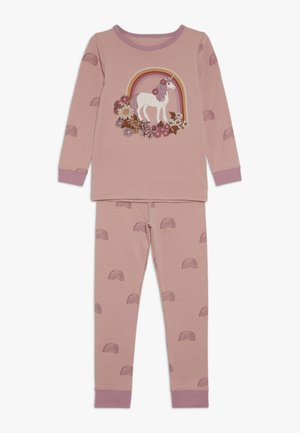 KIDS RUBY LONG SLEEVE UNICORN PYJAMA - Pyžamová sada - rose