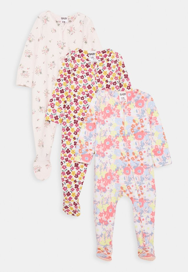 LONG SLEEVE ZIP ROMPER 3 PACK - Pyjamaser - petal daze/olivia floral/meadow floral