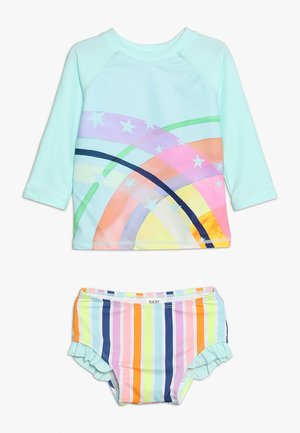 BREEZE BAY PIECE BABY SET - Badpak - pool blue/rainbow