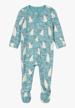 THE LONG SLEEVE ZIP ROMPER - Pyžamo - aqua dream/colin cockatoo