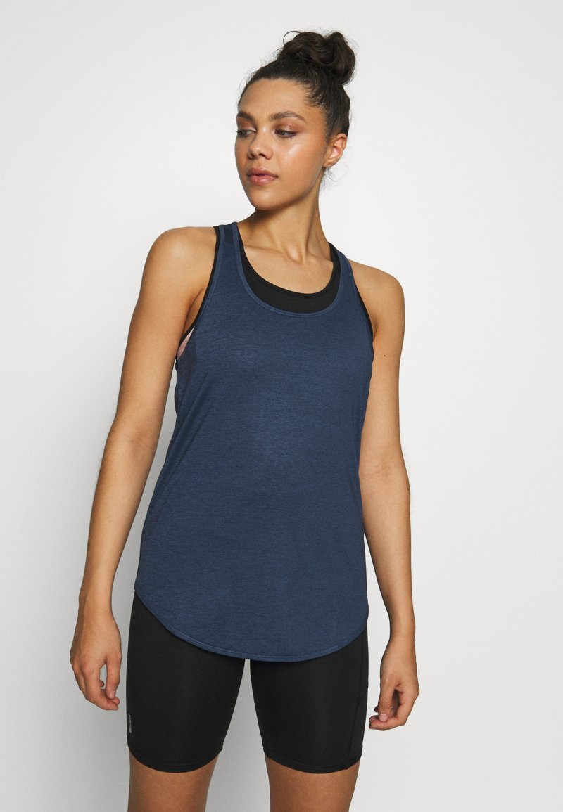 Cotton On Body - TRAINING TANK - T-shirt de sport - dark indigo marle