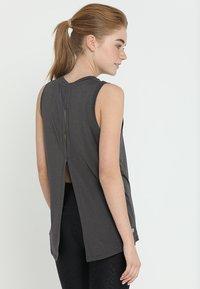 Cotton On Body - SPLIT BACK TANK - Débardeur - charcoal marle - 2