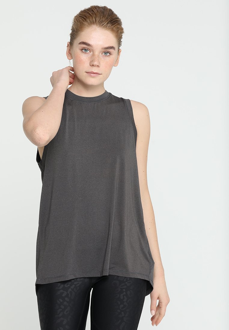 Cotton On Body - SPLIT BACK TANK - Top - charcoal marle