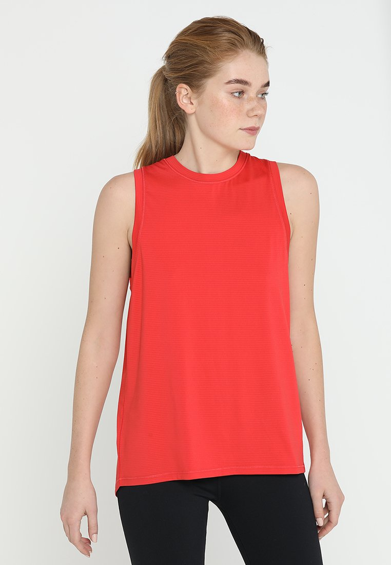 Cotton On Body - SPLIT BACK TANK - Top - red marle