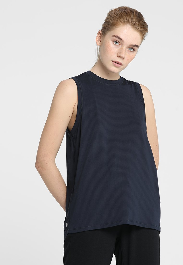 Cotton On Body - SPLIT BACK TANK - Top - navy marle