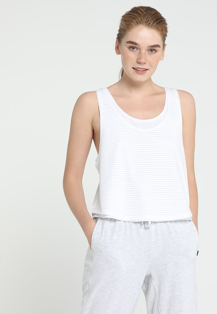 Cotton On Body - SHEER SCOOP NECK TANK - Top - white