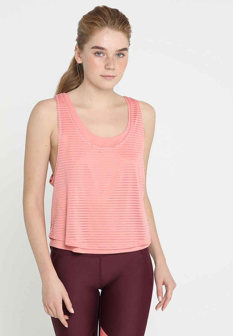 Cotton On Body - SHEER SCOOP NECK TANK - Toppe - clay