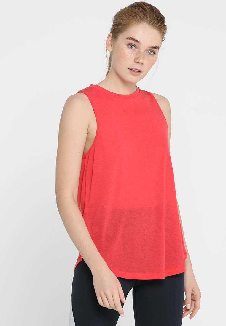 Cotton On Body - SHEER MOCK NECK TANK - Top - red