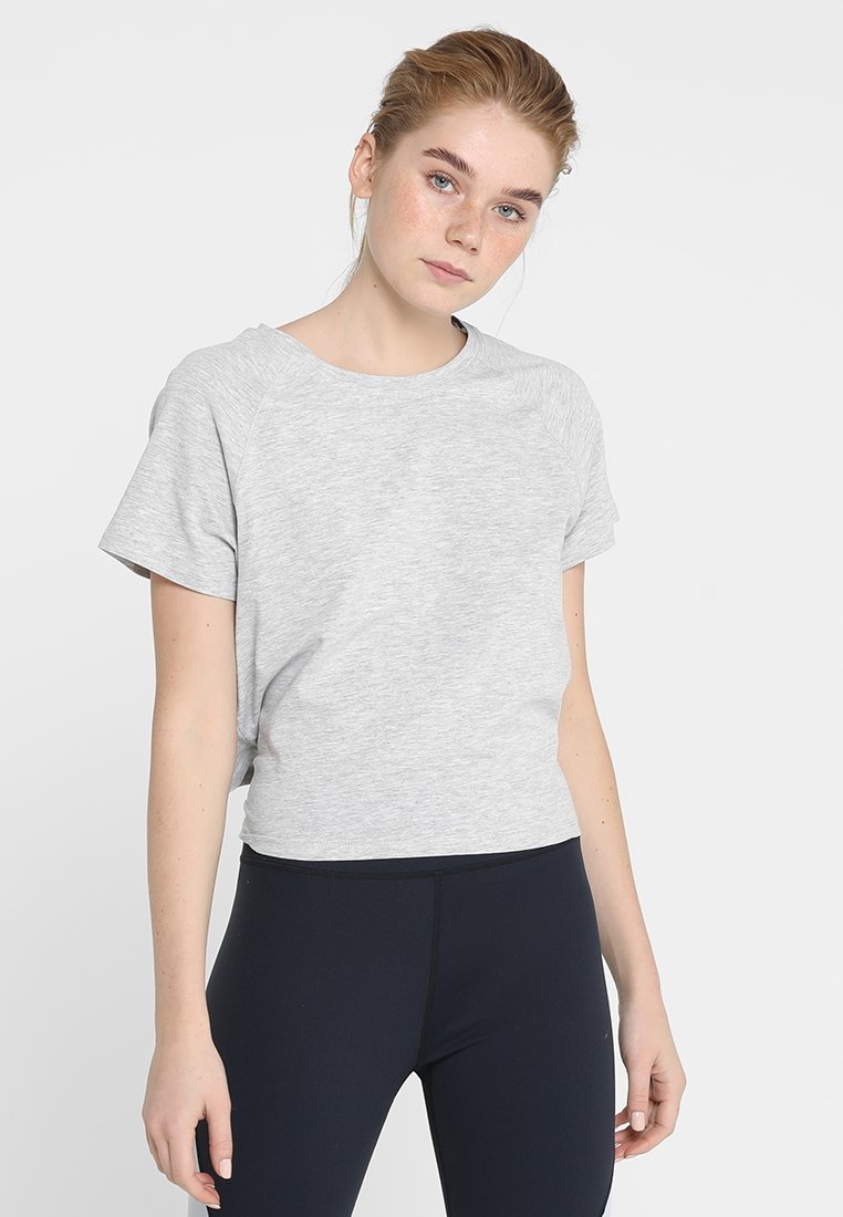 Cotton On Body - KNOTTED HEM - T-Shirt print - mid grey marle