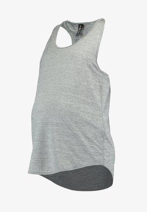 MATERNITY TRAINING TANK - Sports shirt - salt/pepper