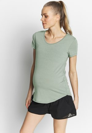 MATERNITY GYM TEE - T-shirt - bas - grey marle