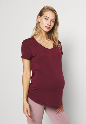 MATERNITY GYM TEE - Basic T-shirt - mulberry