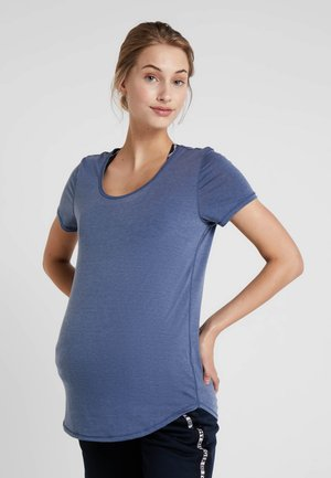 MATERNITY GYM TEE - Basic T-shirt - steel blue marle