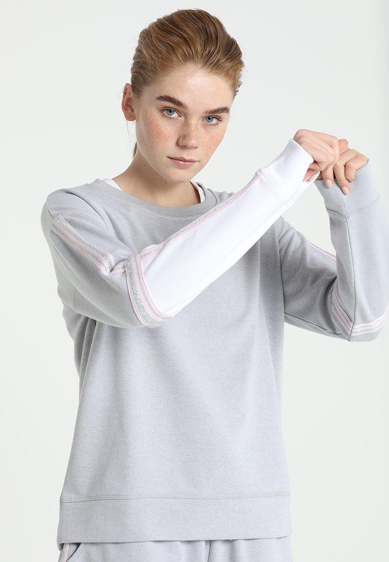 Cotton On Body - LONG SLEEVE TERRY CREW - Mikina - grey marle/white