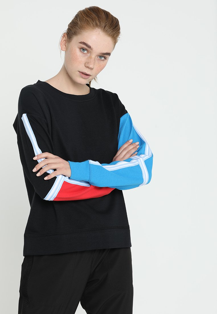 Cotton On Body - LONG SLEEVE TERRY CREW - Mikina - black/blue jewel