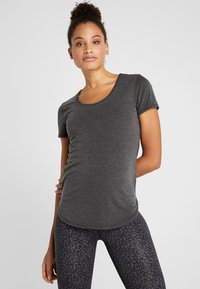 Cotton On Body - GYM - Jednoduché triko - charcoal marle - 0