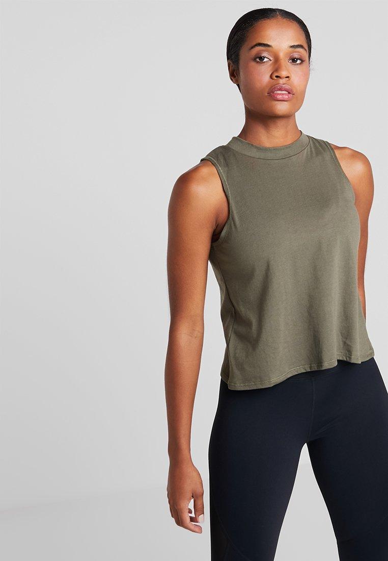 Cotton On Body - CROSS OVER TANK - Débardeur - olive branch/limelight