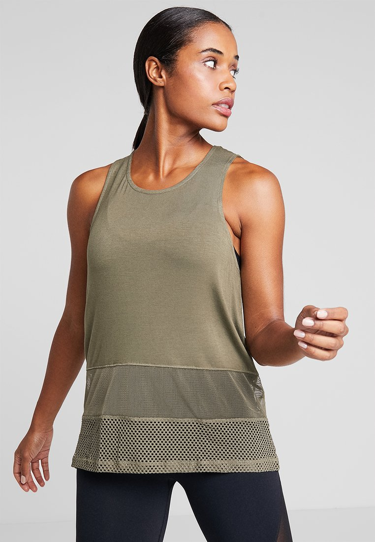 Cotton On Body - SPLICED TANK - Top - olive branch